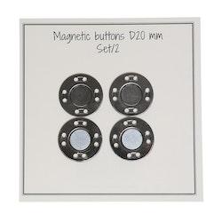 Magnetknappar 2-pack