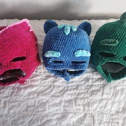 Mask till superhjältar katt/uggla/ödla - PDF