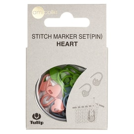 Tulip - Maskmarkör hjärtformade 15 stycken