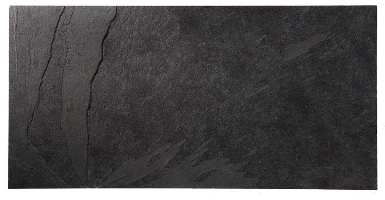 Samaca Svart golvskiffer klovyta 300 x 600 mm, 10 mm tjocklek
