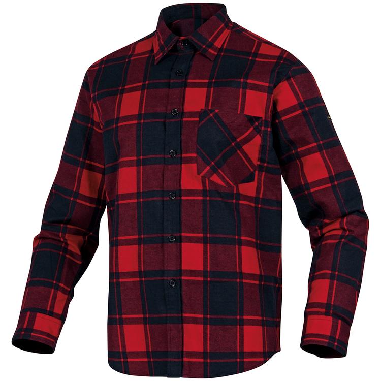 DeltaPlus Flanellskjorta Ruby Röd