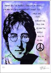BEATLES -John Lennon - Imagine - blue