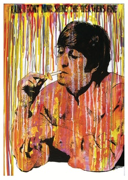BEATLES - John Lennon - Rain - 50x70 cm