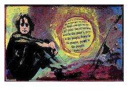 BEATLES  -John Lennon - Power  - 50x70 cm