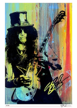 GUNS & ROSES - Slash - 50x70 cm