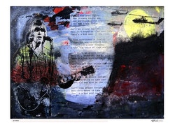 CREEDENCE CLEARWATER REVIVEL - Bad Moon Rising - 50x70 cm