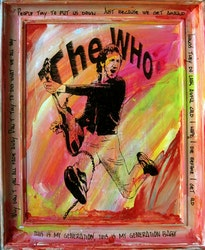 PETE TOWNSEND - The Who - My Generation 48x58 cm