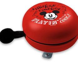 Disney cykelklocka Mickey Mouse Retro junior 80 mm stålröd