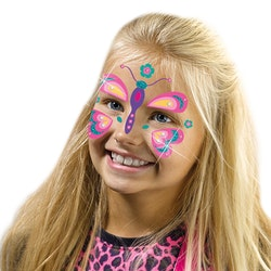 SES Creative mode glitter fjäril ansikte tatueringar