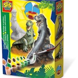 SES Kreativ gipsgjutning och målning av T-Rex