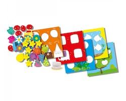 SES Kreativa former klistra in 30 x 20 x 4 cm flerfärgad