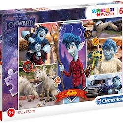 Disney-pussel framåt 33,5 x 23,5 cm kartong 60 bitar
