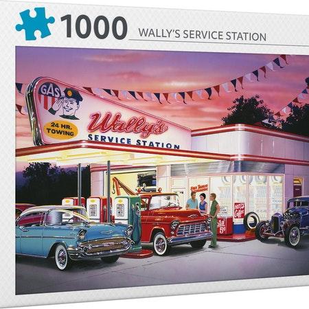 Productions pussel Wallys servicestation 1000 bitar