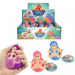 Toi-Toys Mermaid stressboll rosa 8 cm