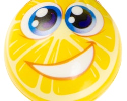 LG-Imports anti-stressboll Lemon junior 6,5 cm skumgult