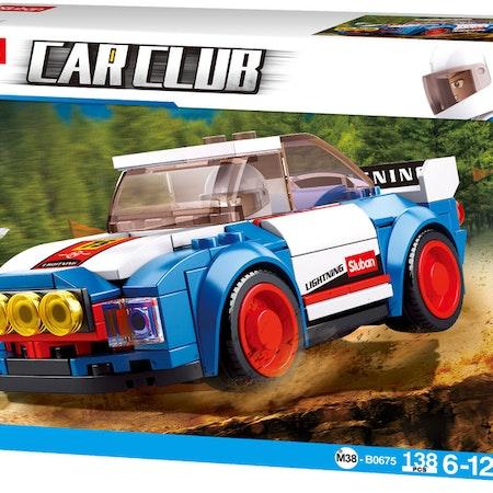 Sluban bil Rally junior 12,7 cm blå / vit / röd 138-delad