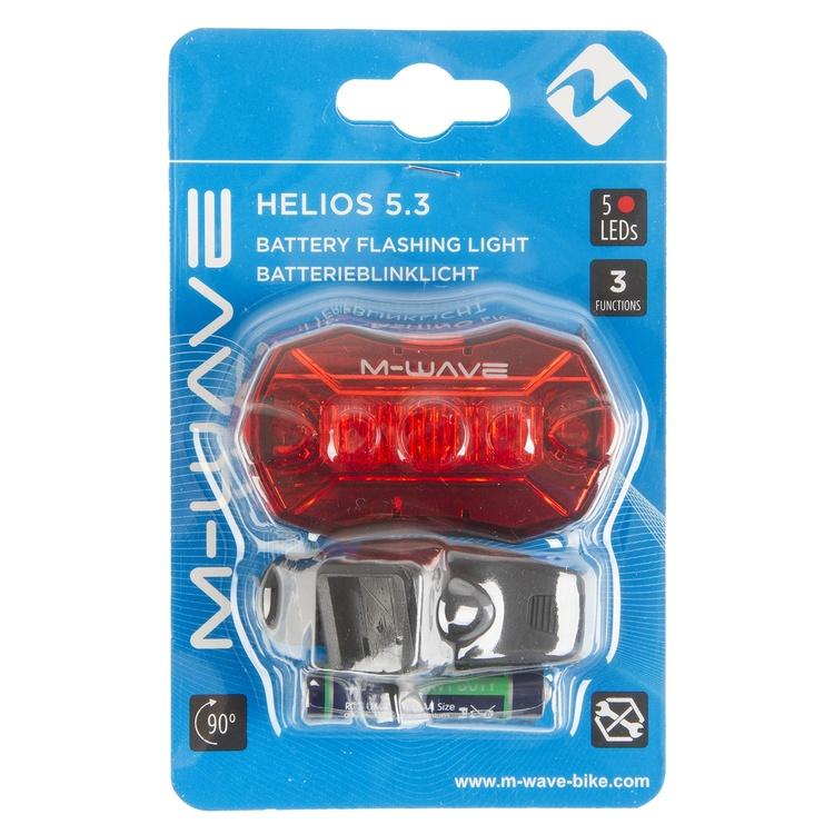 M-Wave bakljus Helios 5.3 ledde batteri svart