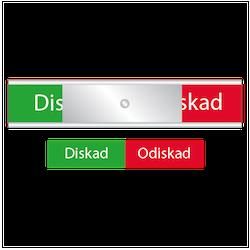 Disk skylten - Diskad / Odiskad