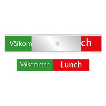 Skylten - Välkommen / Lunch