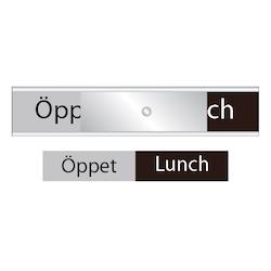 Skylten - Öppet / Lunch