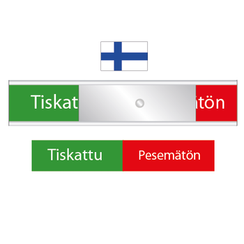 Finlands diskskylt - Tiskattu / Pesemätön