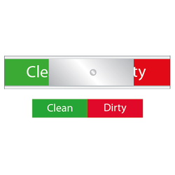 Diskskylt  Clean / Dirty