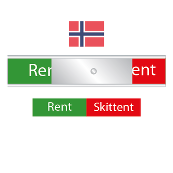 Norges diskskylt - Rent / Skittent