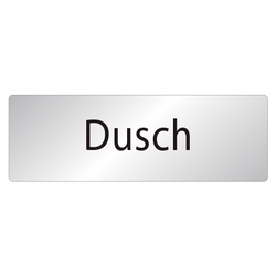 Skylt Dusch