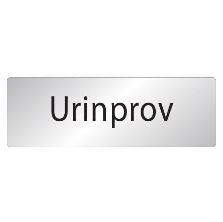 Skylt Urinprov