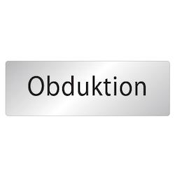 Skylt Obduktion