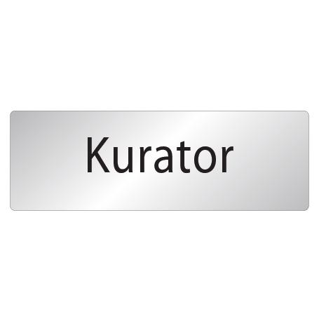 Skylt Kurator
