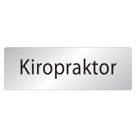 Skylt Kiropraktor