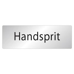 Skylt Handsprit