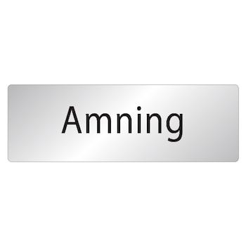 Skylt Amning