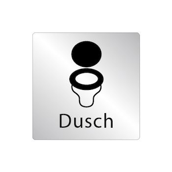 Skylt WC stol - Dusch