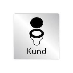 Skylt WC stol - Kund