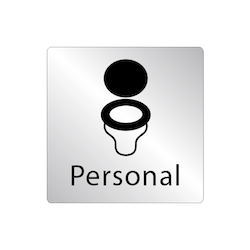 Skylt WC stol - Personal