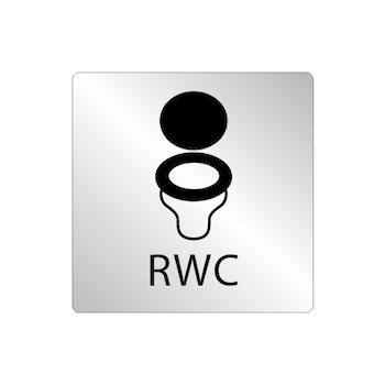 Skylt WC stol - RWC