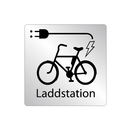 Skylt Laddstation för elcykel