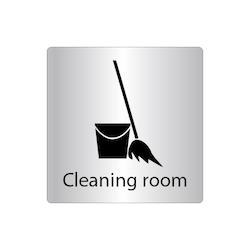 Skylt Cleaning room