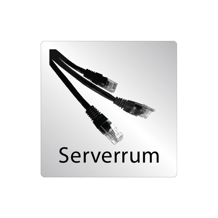 Skylt Serverrum