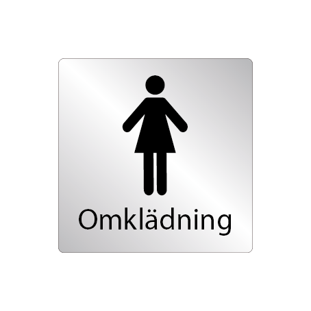 Skylt Omklädningsrum dam