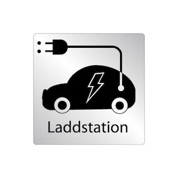 Skylt Laddstation för bil