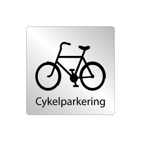 Skylt Cykelparkering