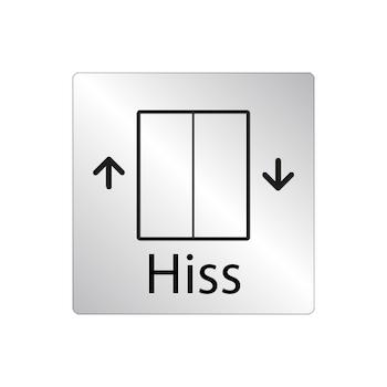 Skylt Hiss