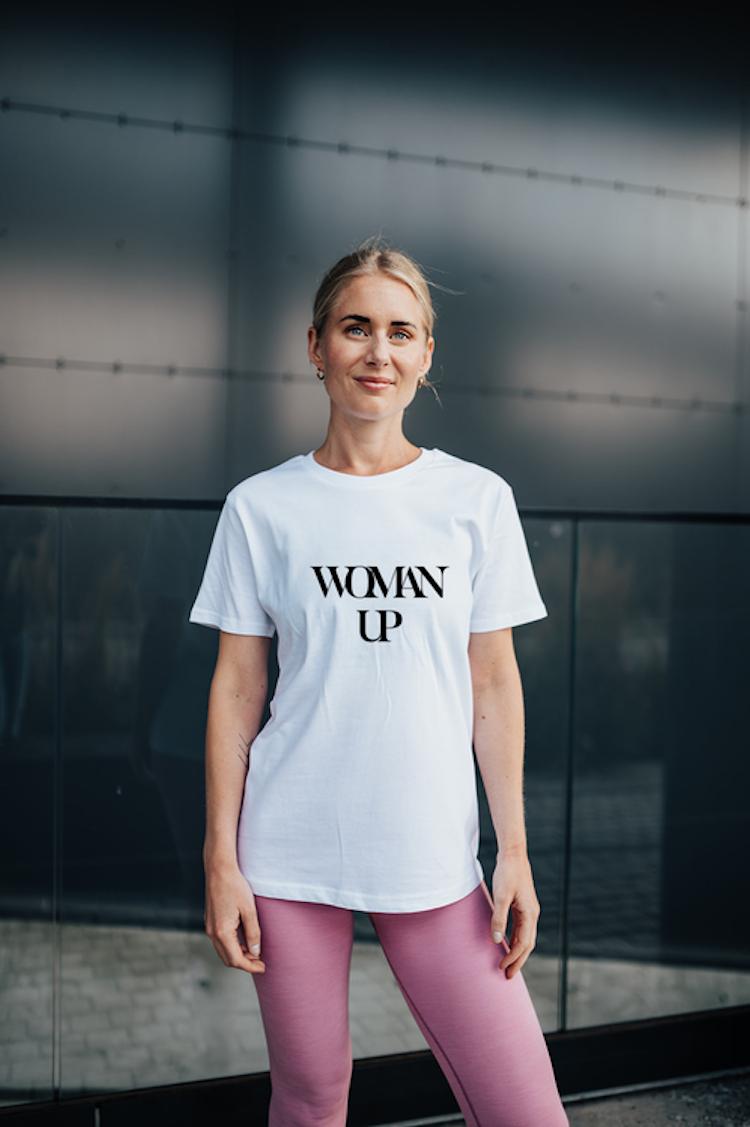 Woman Up Tee - White