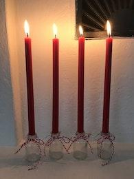 Höga julgransljus säljes styckvis