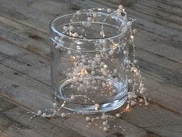 Ljusslinga med pärlor