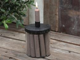 Ljusburk med svart lock