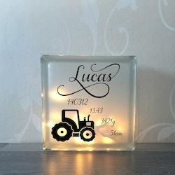 Glasblock Traktor